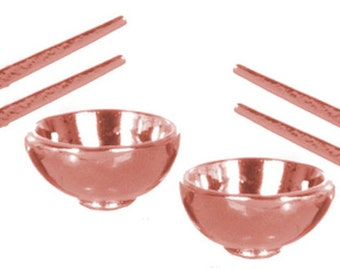Dollhouse Miniatures 1:12 Scale Rice Bowl with Chopsticks #G8193-G8194