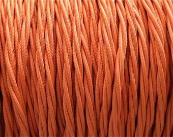 1 meter orange silk covered light flex B8