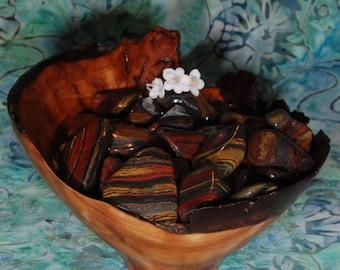 1 TIGER IRON Tumbled Stone - Tiger Iron Crystal, Tiger Iron Stone, Tumbled Tiger Iron, Tiger Iron Gemstone, Tiger Iron Healing