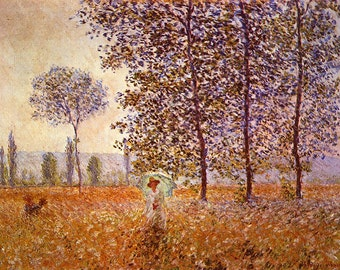 Claude Monet: Poplars in the Sunlight. Fine Art Print/Poster (00771)