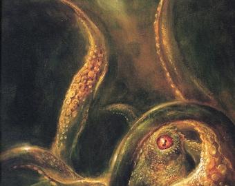 Norse Myths: Kraken. Sea Monster Art Print/Poster (00392)