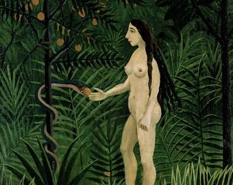 Henri Rousseau: Eve. Fine Art Print/Poster. (003634)