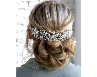 Bridal Hair Comb, Pearl Bridal Headpiece, Wedding headpiece, Wedding hair comb, Bridal hair piece, Wedding hair piece