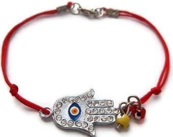 Evil Eye Bracelet, Hamsa Bracelet, Red String Bracelet, Blue Eye Bracelet, Silver Evil Eye Bracelet, Turkish Bracelet, Blue Eye Bracelet