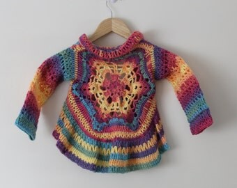 PDF, Mandala, Cardigan, Crochet Pattern, digital download