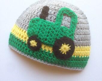 Crochet Tractor Hat, Tractor Hat, Crochet winter Hat