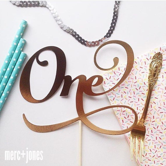 Thirty | Twenty One | One | Forty | Fifty - Gold, Rose Gold OR Silver Metallic Age Cake Topper