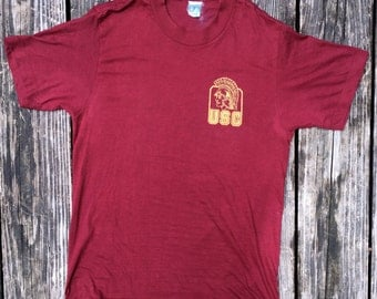 Vintage USC college tee, Size Small, Polyblend