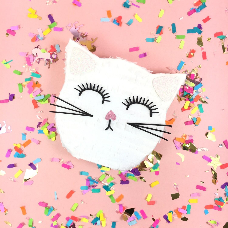 Birthday Party Cat Ears: Mini Cat Pinata 3 Party Favors Kitty Cat Birthday Party
