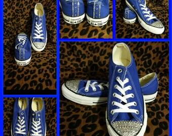 Royal Blue Bling Converse