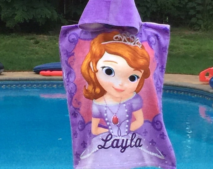 Disney Sofia the First Hooded Beach Towel Poncho Sofia - Personalized