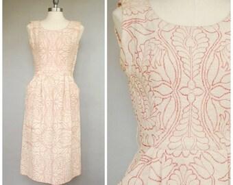 SALE Fair Maiden Dress • 1950s Wiggle Dress