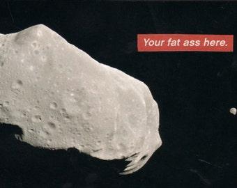 your fat ass here / mars postcard
