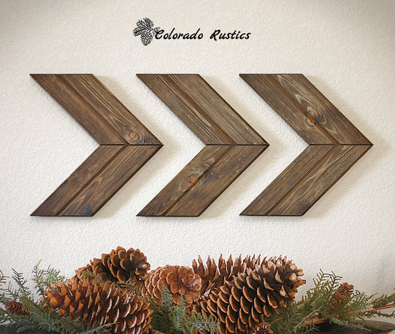Wood Arrow Decor Chevron Rustic Home Decor Wood Art Wood Arrow Sign