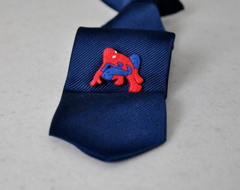 Spiderman inspired Tie Tack,Spiderman Pin,Tie Clip,Superhero,Boy Accessories,Super Hero,Accessory