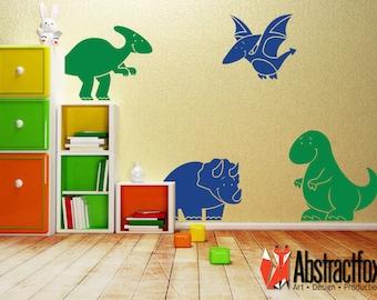 Dinosaur wall decal - dinosaur wall stickers - room stickers