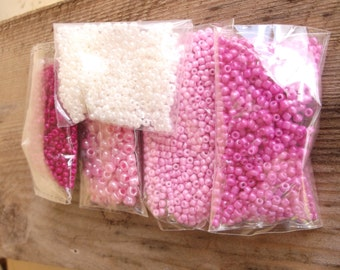 Sale of seed beads.....was 5.75...now 4.75....mixed seed beads grab bag of seed beads
