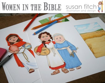 Women in the Bible Clip Art collection
