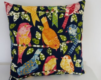 Decorative throw pillow cover, 18x18 inches Outdoor bird pillow cover, Bird pillow cover, Outdoor pillow,