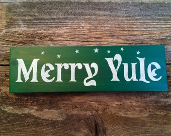 Yule sign/ shelf sitter (Green)
