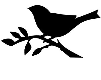 Bird on Branch Vinyl Wall Decal