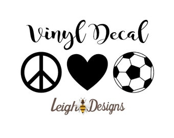 Soccer Decal Etsy - Soccer custom vinyl decals for car windows