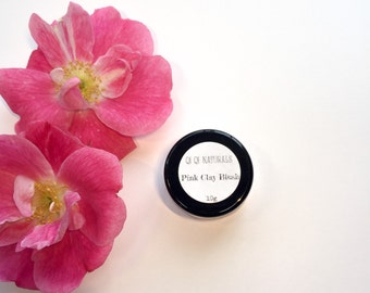 Pink Clay Blush, All Natural Blush made with Clay and Minerals