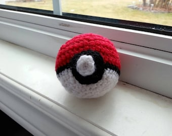 Crochet Pokeball/Amigurumi Pokeball/Pokemon