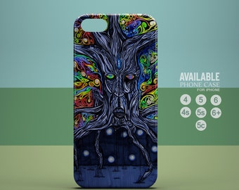 trippy psychedelic tree phone case for iPhone 4, 4s, 5, 5s, 5c, 6, 6plus