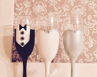 Bridesmaids Champagne Glasses