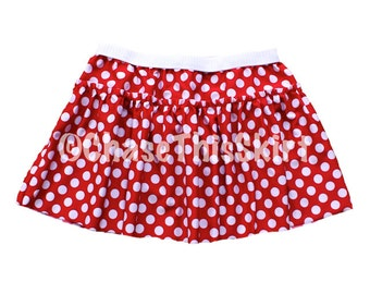 Red and White Polka Dot Running Skirt