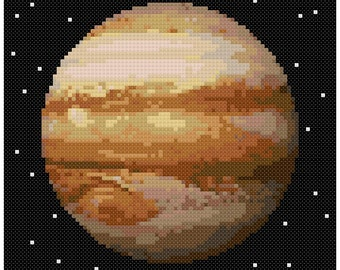 PDF Cross Stitch pattern - 0055.Jupiter planet - INSTANT DOWNLOAD
