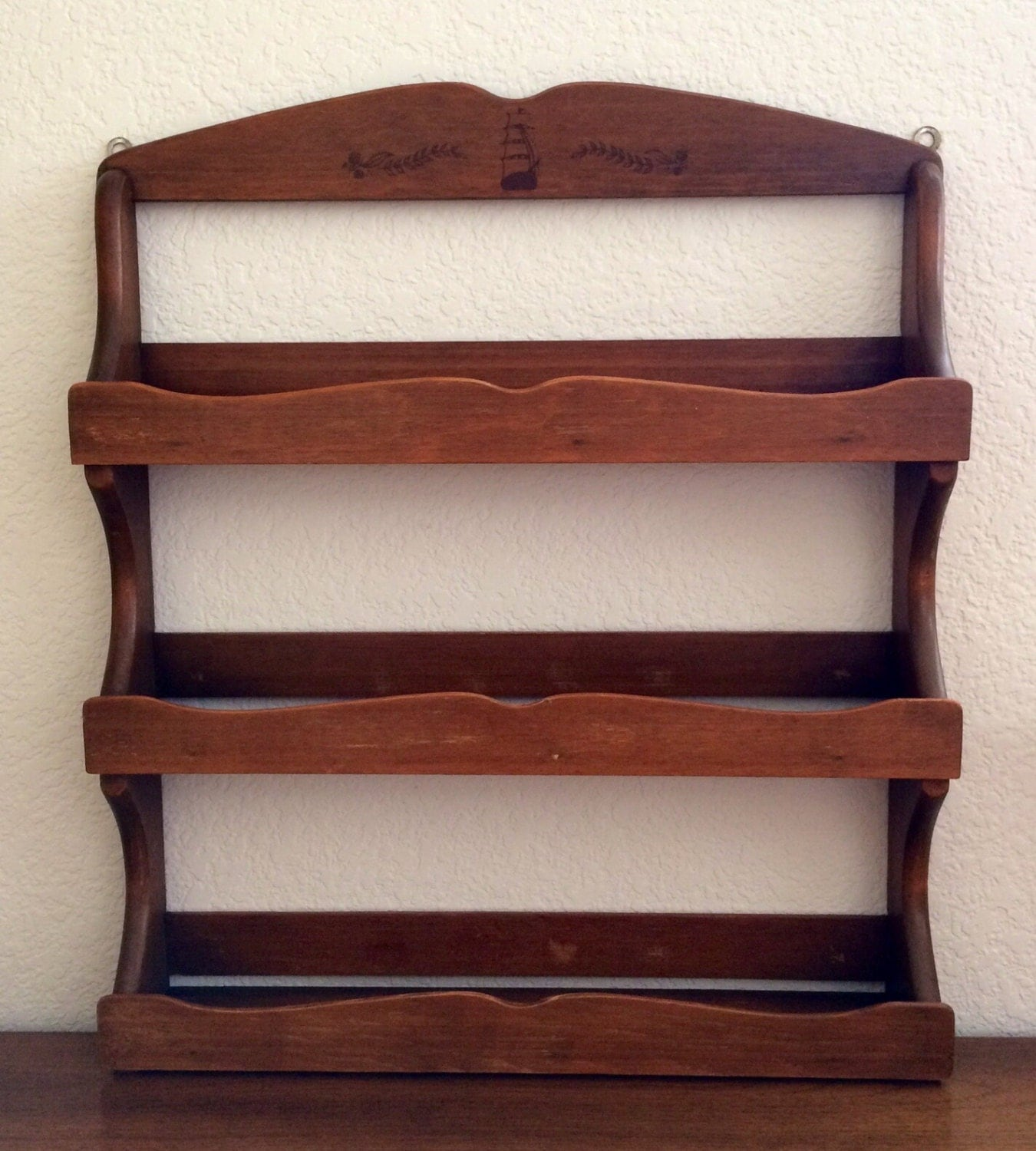 Mccormick Spice Rack: Vintage Wooden Spice Rack McCormick Schilling 3-Tier Spice