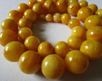 nice ca. 68 g Butterscotch Necklace Bernsteinkette baltic amber Bernstein 老琥珀 Collier