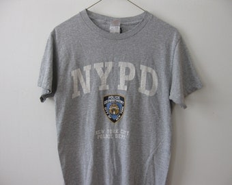 NYPD New York Police t-shirt shirt Adult Small Grey
