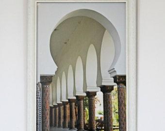 Custom Framed Moroccan Mosque Corridor