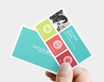 Business Card Template - Printable business card, diy business card template, custom business card, photoshop, psd business card design
