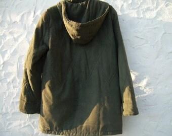 HOODED COAT , GREEN , Druid hood
