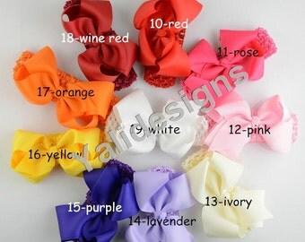 Colorful Baby Headbands Ribbon Big Bowknot Head Wrap Girl Women Fashion Bow Heaband   -YTK28
