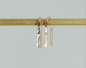 Gold Arc Earrings, Arc Earrings, Horseshoe Earrings,Gold Open Hoop Earrings, Simple Earrings,14K Gold Filled,Gold Open Hoop,Minimal Earrings