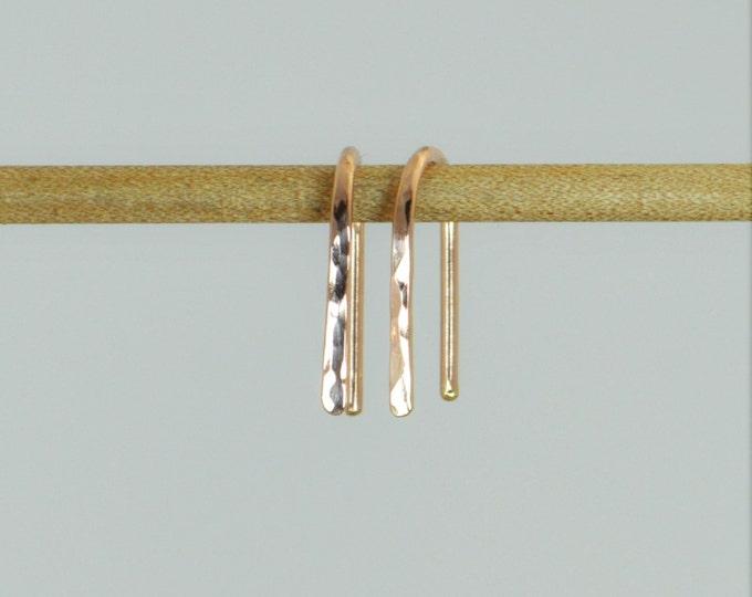 Gold Arc Earrings, Arc Earrings, Horseshoe Earrings,Gold Open Hoop Earrings, Simple Earrings,14K Gold Filled,Gold Open Hoop,Minimal Earrings