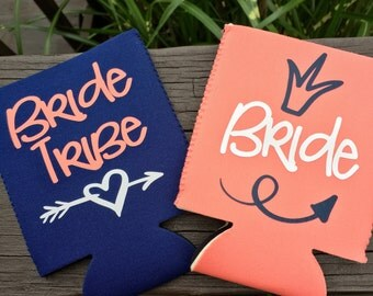 Bride Tribe Bachelorette party coolers~Bachelorette party favors~Wedding favors
