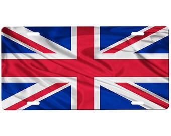 Union Jack Flag License Plate