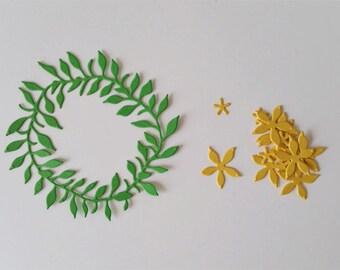 Spring Wreath Die Cuts