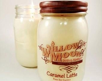 Caramel Latte- Caramel latte,Handmade Soy candle, candles home decor, coffee candle, caramel candle, coffee shop, fall scents,
