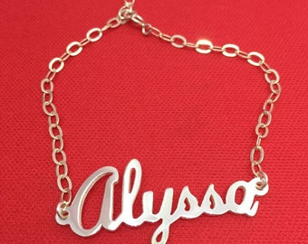 925 Sterling silver Personalized name bracelet any name can do