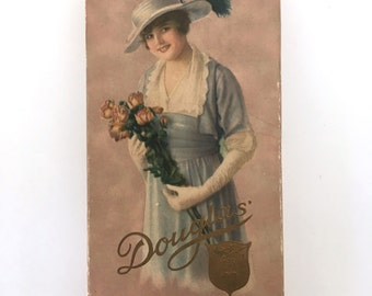 Vintage antique Douglas chocolate box, for decor or display