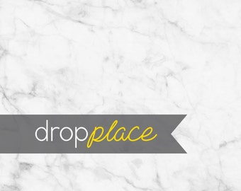 White Grey Marble Backdrop Photo Background Photo Booth Wedding, Floor Drop,  Durable Matte Vinyl Photo prop (Multiple Sizes Available)