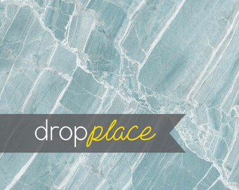 Durable Fabric Backdrop  Marble Blue Teal Abstract Background Floor Drop Photo Prop Wedding, Newborn,  (Material and Size Options Available)