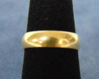 Vintage Estate 14k Yellow Gold Wedding Band 3.9g #E2188
